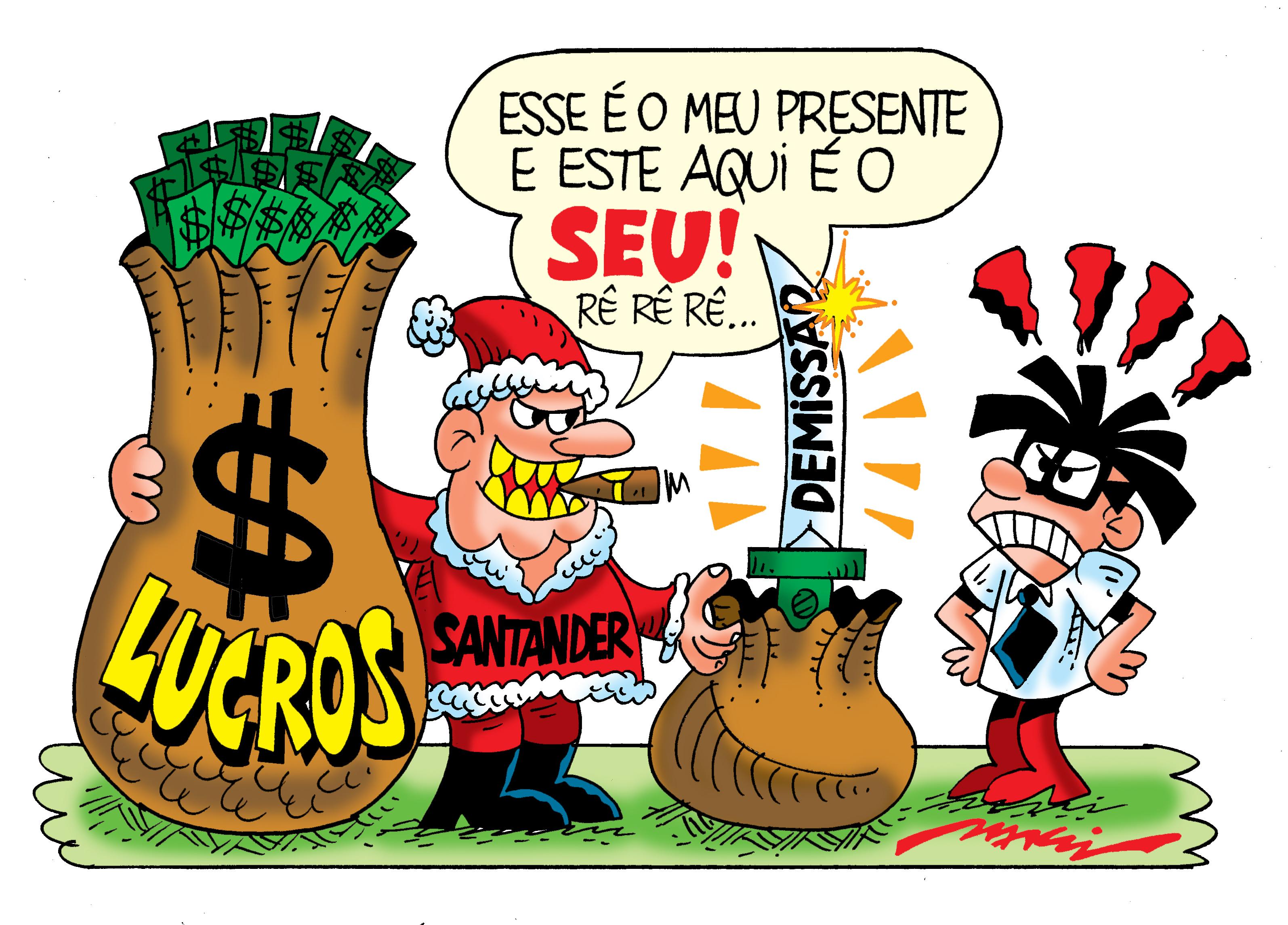 Ho Ho Ho?! No Santander, o presente de Natal é a demissão - Sindicato dos Bancários SP